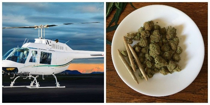 An epic cannabis-infused helicopter expedition in the Canadian mountains to celebrate legalization day
